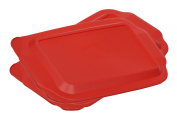 Pyrex 2.8l 23cm x 33cm Red Rectangular Plastic Lid 233-PC for Glass Baking Dish