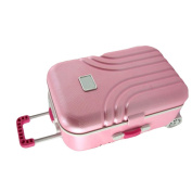 Pink Candy Colour Jewellery Storage Box Luggage Trolley Style Music Musical Box Birthday Gift