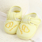 AbleGrow(TM) 3 Colour Yellow/Pink/Blue Autumn and Spring Cute Hook Baby Shoes Dual-Heart Cotton Shoes Unisex Shoes Soft