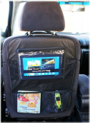 Multi - Pocket Car Back Seat Organiser Tablet PC IPad Cover Protector Travel Storage (Model 2) [007]