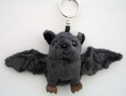 Cuddly Plush Toy Bat Keyring 14 x 19 CM top for collectors