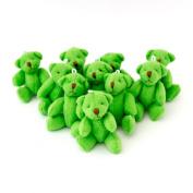 NEW Cute And Cuddly Little GREEN Teddy Bear X 8 - Gift Present Birthday Xmas