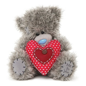 Me To You 18cm Tatty Teddy Bear Holding Button Heart Cushion Love Gift