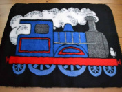 Train Non Slip Machine Washable Sheepskin Style Kids Rug. Size 70cm x 100cm