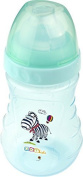 Baby Wide neck bottle Large 300 ml Baby Bottle from 6 months Hippo blue