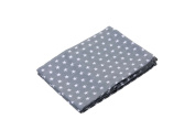 100% Cotton Muslins 3 pack 70cmx 70cm grey with small white stars