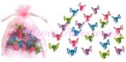 Allsorts® 24 Mini Glitter Butterfly Hair Clamps Girls Hair Accessory Hair Grips Clips