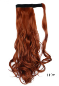 Beauty-Emily 45cm Inches /100g Magic Tape Full Curly Big Wave Wig Spiral Different Colour Hair Extensions Natural Look Scrunchi Scrunchy,Colour #119