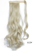 Beauty-Emily 45cm Inches /100g Magic Tape Full Curly Big Wave Wig Spiral Different Colour Hair Extensions Natural Look Scrunchi Scrunchy,Colour #1613