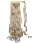Beauty-Emily 45cm Inches /100g Magic Tape Full Curly Big Wave Wig Spiral Different Colour Hair Extensions Natural Look Scrunchi Scrunchy,Colour #22
