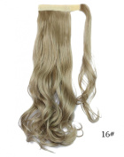 Beauty-Emily 45cm Inches /100g Magic Tape Full Curly Big Wave Wig Spiral Different Colour Hair Extensions Natural Look Scrunchi Scrunchy,Colour #16