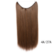 Beauty-Emily 60cm /80g Straight Line Hair Shade Hairpiece Heat Resistant Diverse Colour Conk Hair Extensions Horsetail Hair Scrunchie Scrunchy,Colour #4A/27A