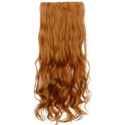 Beauty-Emily 70cm /140g Women 5 Clips Full Curly Flaxen Hair Piece Horsetail Wig Spiral Different Colour Hair Extensions Natural Look Scrunchi Scrunchy,Colour #27S
