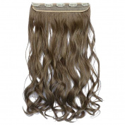 Beauty-Emily 60cm /120G Hairpiece Silky Wave Curled Clip Diverse Colour Spiral Scrunchie Hair Extensions,Colour #10/86