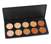 FantasyDay® Professional 10 Colours Cream Concealer Camouflage Makeup Palette Contouring Kit - Ideal for Professional and Daily Use