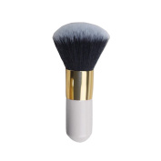 VALUE MAKERS 1PC Professional Blush Brush Foundation Face Powder Cosmetic Makeup Brush Make up Blusher Brush Wooden Portable Large Handle Beauty Tools