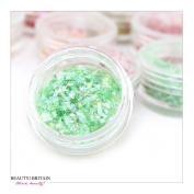 40 x NAIL ART DECORATION GLITTER FLAKES 6 COLOURS WHOLESALE UK