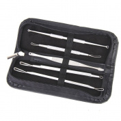 Homgaty 5x Blackhead Acne Comedone Pimple Blemish Extractor Remover Tool Set With Case