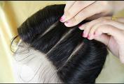 High-Quanlity Bleached Knots 1PC 3 Way Part Lace Closure 10cm *10cm European Virgin Human Hair Straight Natural Colour