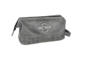 Harley Davidson Leather Toiletry Kit