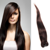 #1 Best Seller STRAIGHT Brazilian Bundle Hair Virgin Hair Weave Extension Weft Track GREAT DEAL 100 Human Hair GUARANTEED or MONEY BACK Beautiful Dark Brown #2 Colour -70cm