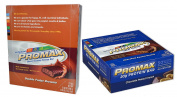 Promax Protein Bar-Choc Peanut Crunch/Double Fudge Brownie-12 of ea