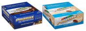 Promax Protein Bar-Choc Peanut Crunch/Cookies & Cream-12 of ea