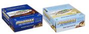 Promax Protein Bar-Choc Peanut Crunch/Greek Yoghurt Honey Nut-12 of ea