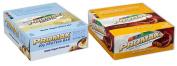 Promax Protein Bar-Greek Yoghurt Honey Nut/Nutty Butter Crisp-12 of ea