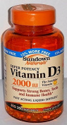 Sundown Naturals Super Potency Vitamin D3, 2000 IU, Value Size, 350 Softgels
