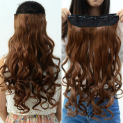 Neverland Beauty Curly 3/4 Full Head Women Hair Extensions 5 Clips 60cm