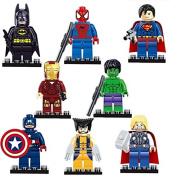 8 pc Super Hero Mini Figure Set
