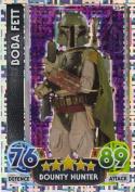 Disney Star Wars Force Attax The Force Awakens Holographic Foil Boba Fett Trading Card