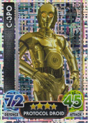 Disney Star Wars Force Attax The Force Awakens Holographic Foil C-3PO Trading Card