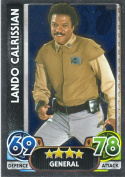 Disney Star Wars Force Attax The Force Awakens Mirror Foil Lando Calrissian Trading Card