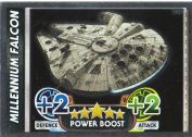 Disney Star Wars Force Attax The Force Awakens Mirror Foil Millennium Falcon Trading Card