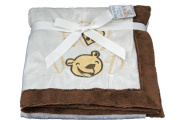 New 'I Love Dad' Brown and Cream Luxury baby pram blanket / wrap - Baby unisex