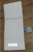 A B C New Silver Cross Pram size mattress 79 x 36 cm /WITH QUILTED COVER