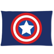 Home Decor Pillowcases Captain America Superhero 20*80cm Inch Two Sides Zippered Soft Cotton Pillow Covers