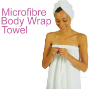 Ladies Microfibre Body Wrap/Towel ~ 100% micro-fibre body towel wrap is more than just a towel the unique design is fully adjustable to give perfect fit for any size the non-slip hook and loop fastening will keep the towel from falling down it's lightweig