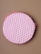 Small Pink Mesh Bun Net, for child / girl. Ballet / dance class hair accessory