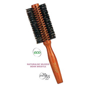 Donegal - Hair Styling ECO Natural Round Hair Brush Curler Brush Boar Bristle 20/55 mm