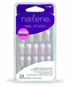 Nailene Nail Studio Medium Nails French Leaf Glitter
