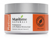 120ml 2.5% Retinol Cream Moisturiser + Hyaluronic Acid + Vitamin E- Professional Grade Retinol-Shea Butter-Vegan- Natural Skin Care by Maritime Naturals