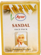 4 X Ayur Sandal Face Pack Natural Glow Skin Anti Ageing Great for Oily Skin Reducing Pimples 25g X 4 Pack = 100gm