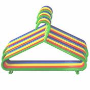 60 Children's Clothes Hangers Kids Coat Hanger Multi Coloured