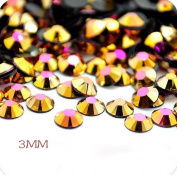 1000pcs Ss10 3mm Imitation Ab Rhinestones Resin Rhinestones
