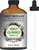 Roman Chamomile Essential Oil with a Glass Dropper - Large 120ml - 100% Pure & Natural Undiluted Therapeutic Grade & Best Premium Quality Oil