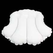 Yontree Bath Pillow Tub Pillow Spa Pillow With Suction Cup White Large