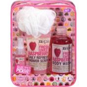 Nspa Fresh Sweet Raspberry Bath Gift Set, 4 pc